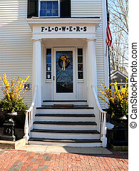 front door - nantucket flowers with front door and flower...