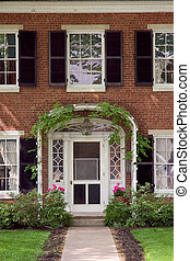 Front Door - Elegant looking front door with an ivy trellis...