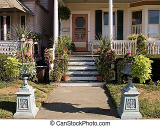Front Door - This is a shot of an old residential...