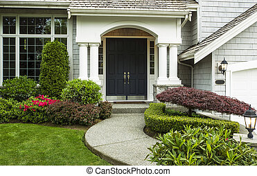 Front Door to Home - Front Door to home surrounded by...