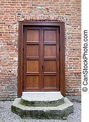 Front door - Wooden front door - the picture was taken in...