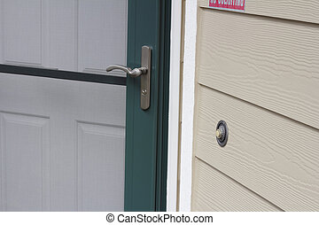 Front Doorbell of a Home