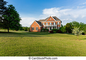 Front elevation large single family home - Front of home and...