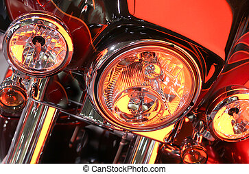 front end - close up shot of the headlights and part of the...