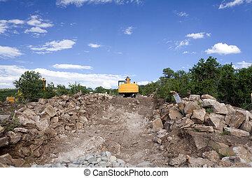 Front End Loader Construction Site Santa Fe NM