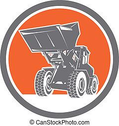 Front End Loader Digger Excavator Circle Retro -...