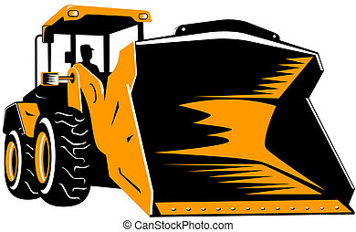Front end loader - Illustration on construction equipments