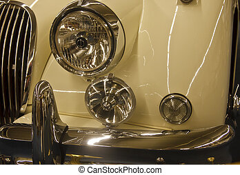 Front End of Classic Sports Car