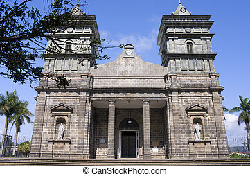 Front Entrance Church of Palmares in Costa Rica