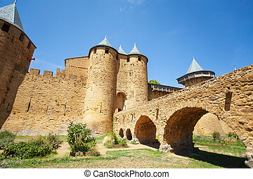 Front entrance of Count's Castle in Carcassonne