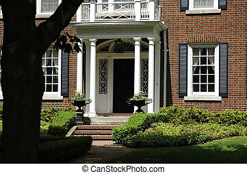 Front Entrance with Urns