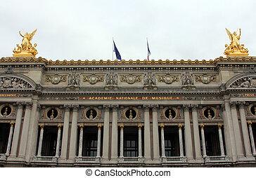 Front Facade of Opera National de Paris