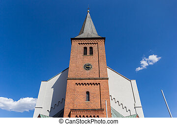 Front facade of the historic Dom church in Haren, Germany