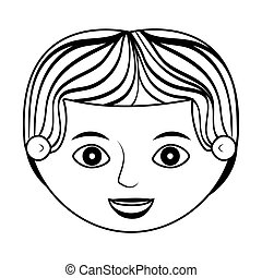 front face man silhouette with stripes hair