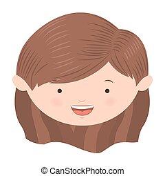 front face short hair girl