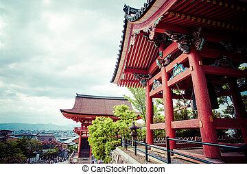 Front gate at Kiyomizu-dera Temple in Kyoto, Japan.