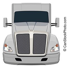 Front gray truck