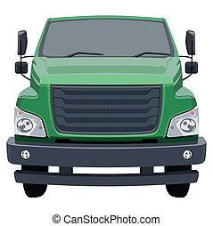 Front green truck