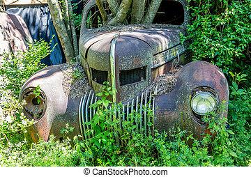 front, lastwagen, verrostet, altes , heraus