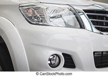 front, licht, neues auto