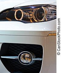 front, lichter, von, a, auto