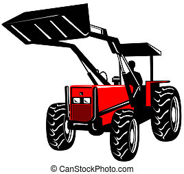 Front loader - Illustration on heavy machinery