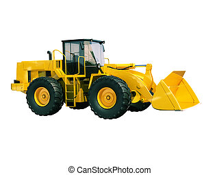 Front loader isolated - Modern front loader isolated on ...