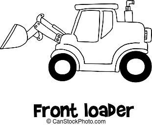 Front loader of vector art