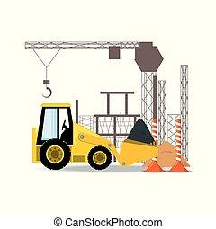 front loader, under construction concept