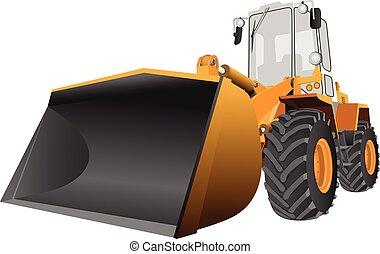 Front loader vector