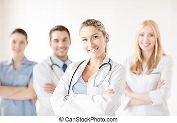 Front, Medizin, Gruppe, weibliche, Doktor