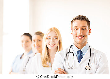 Front, Medizin, Mann, Gruppe, Doktor