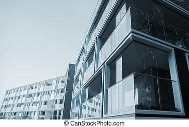 front, od, nowy, nowoczesny, izba, budowa.