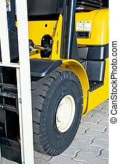 Front of a forklift truck