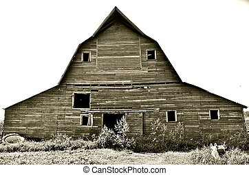 Front of a Hip Roof Barn