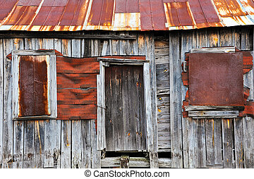 Front of an Old Abandoned Farm House