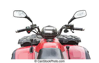 front of atv quad bike isolated on white background