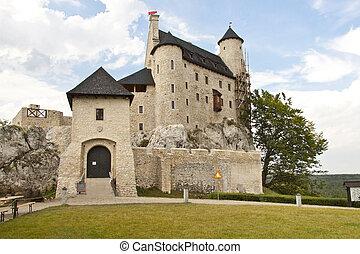 Front of Bobolice castle - Poland, Silesia.