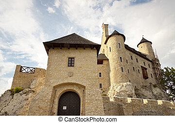 Front of castle in Bobolice - Poland, Silesia.