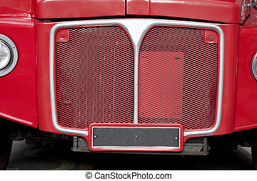 Front of Red London Bus