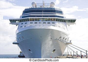 Front of Ship at Dock