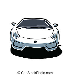 Front of sport car