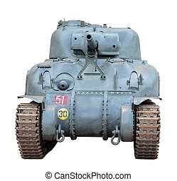 Sherman tank - Front of the american Sherman tank from ...
