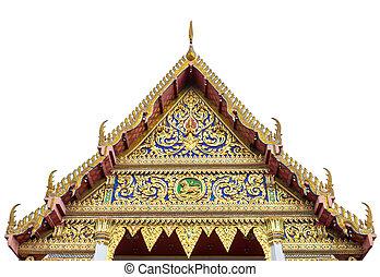 Front of the Buddhist temple wat chanasongkram