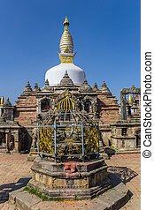 Front of the Chilancho Stupa in Kirtipur