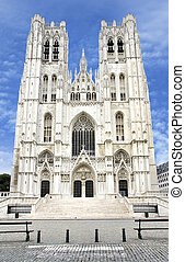 St. Michael and Gudula Cathedral - Front of the St. Michael...