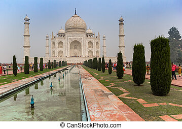 Front of the Taj Mahal Monument in Agra