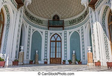 Front of the Vorontsov Palace near  Alupka, Ukraine