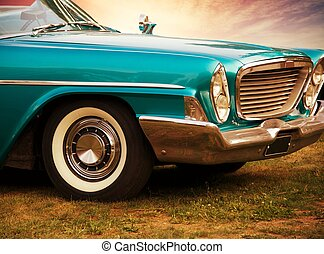 Front part of retro car