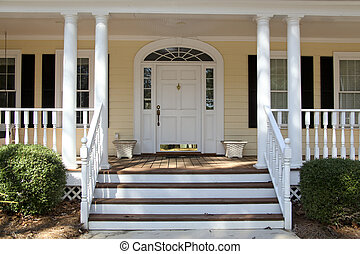Front Porch - front steps leading up to a front porch